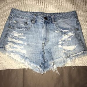 American eagle high waisted jean shorts